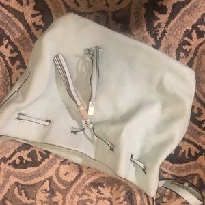 Kate Spade Blue Leather Bucket Bag